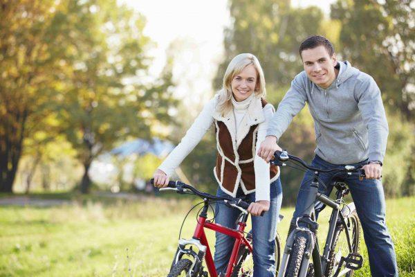 Camping in Holland im Herbst - Fahrradfahren