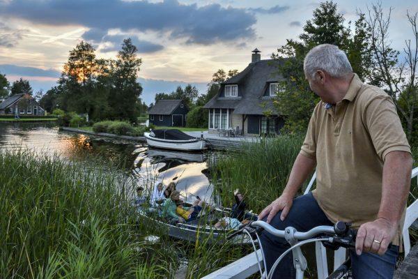 Radfahren in Holland - Giethoorn