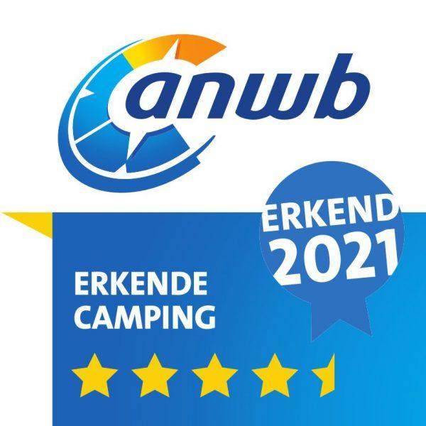 ANWB Erkende Camping 2021 - 4,5 Sterren
